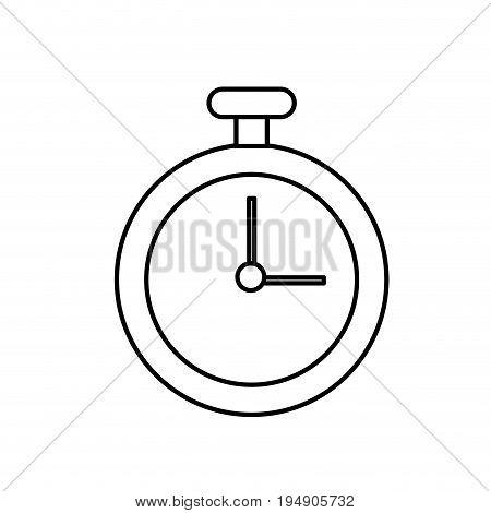 line chronometer element to training sport vector illustration