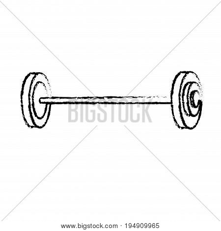 figure dumbbell fitness tool to do exercise and training vector illustration
