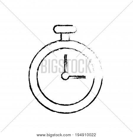 figure chronometer element to training sport vector illustration