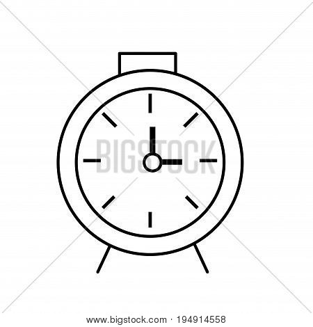 line clock design to know the time vector illustration