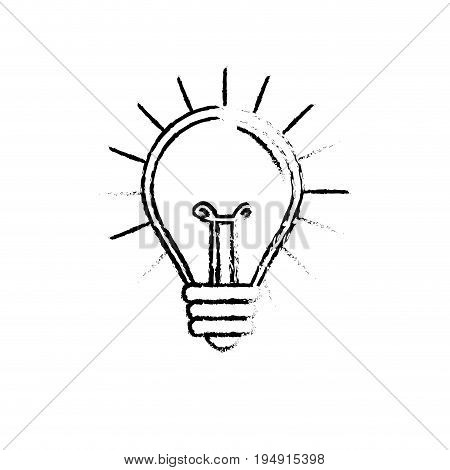 figure light bulb idea to creative invention vector illustration