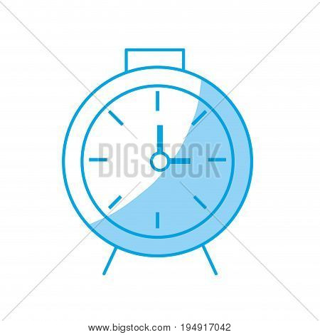 silhouette clock design to know the time vector illustration