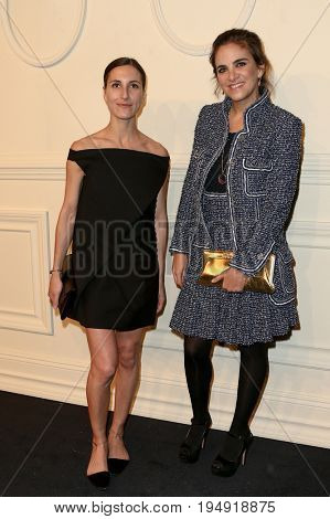 NEW YORK-MAR 31: Laure Heriard Dubreuil (R) and guest attend the CHANEL Paris-Salzburg 2014/15 Metiers d'Art Show and Party at the Park Avenue Armory on March 31, 2015 in New York City.