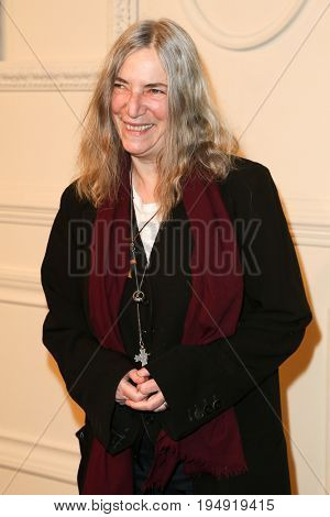 NEW YORK-MAR 31: Singer/songwriter Patti Smith attends the CHANEL Paris-Salzburg 2014/15 Metiers d'Art Show and Party at the Park Avenue Armory on March 31, 2015 in New York City.