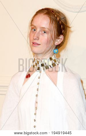NEW YORK-MAR 31: Artist India Salvor Menuez attends the CHANEL Paris-Salzburg 2014/15 Metiers d'Art Show and Party at the Park Avenue Armory on March 31, 2015 in New York City.