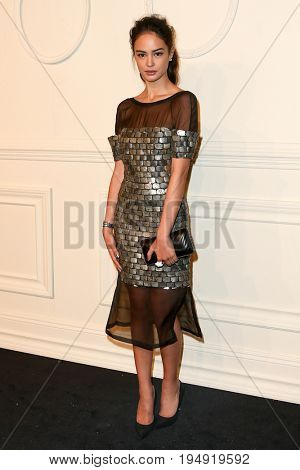 NEW YORK-MAR 31: Actress Courtney Eaton attends the CHANEL Paris-Salzburg 2014/15 Metiers d'Art Show and Party at the Park Avenue Armory on March 31, 2015 in New York City.