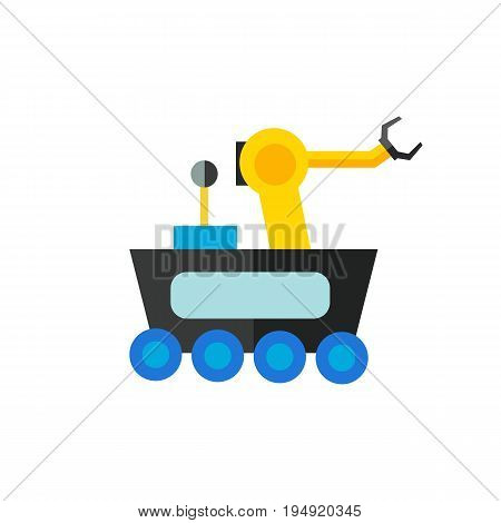 Icon of space rover. Vehicle, spacecraft, autonomy. Robot concept. Can be used for topics like exploration, equipment or science