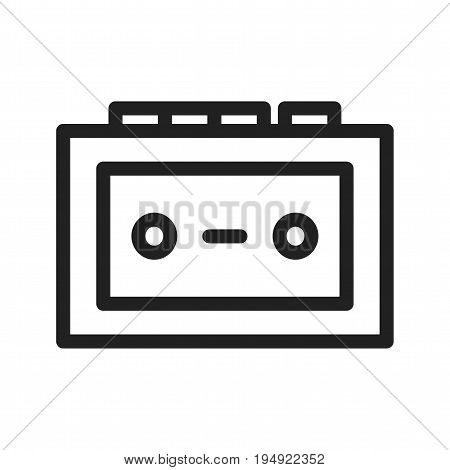 Radio, antenna, tape recorder icon vector image. Can also be used for news and media. Suitable for mobile apps, web apps and print media.