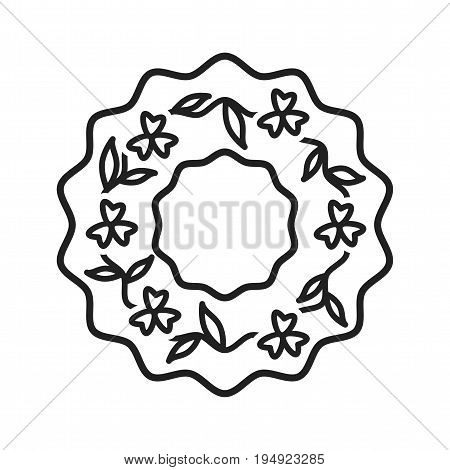 Funeral, wreath, flowers icon vector image.Can also be used for funeral. Suitable for mobile apps, web apps and print media.