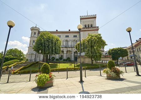Bielsko Biala, Poland - July 2, 2017: Sulkowski Castle On 2 July