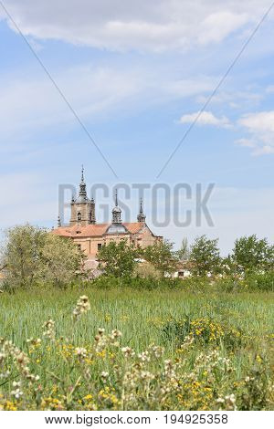 Church of Santo Tomas Apostol from the flowers