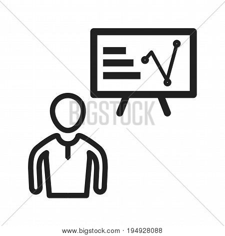 Individual, business, personal icon vector image. Can also be used for soft skills. Suitable for mobile apps, web apps and print media.