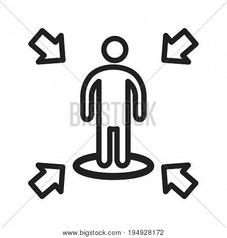 Leadership, influence, achieve icon vector image. Can also be used for soft skills. Suitable for mobile apps, web apps and print media.