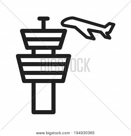 Control, tower, traffic icon vector image. Can also be used for airport. Suitable for mobile apps, web apps and print media.