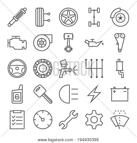 Set of car service icons. Vector illustration eps 10