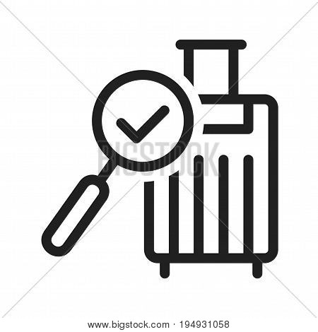 Luggage, airport, baggage icon vector image. Can also be used for airport. Suitable for mobile apps, web apps and print media.