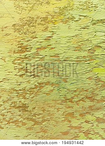 Abstract Pale Yellow Canvas Background With Brush Strokes