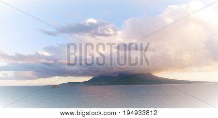 View of Nevis taken from Turtle Beach villas in St.Kitts