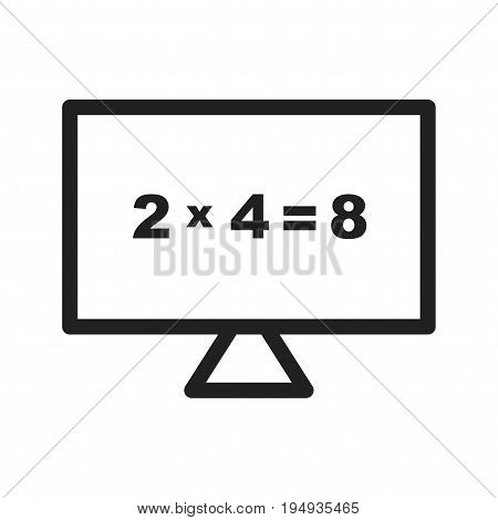 Computer, digital, maths icon vector image. Can also be used for Math Symbols. Suitable for use on web apps, mobile apps and print media.