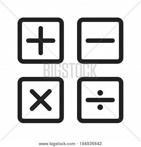 Mathematics, signs, science icon vector image. Can also be used for Math Symbols. Suitable for use on web apps, mobile apps and print media.