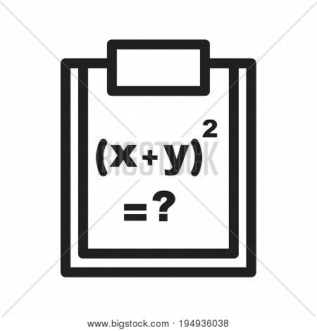 Formula, science, maths icon vector image. Can also be used for Math Symbols. Suitable for use on web apps, mobile apps and print media.