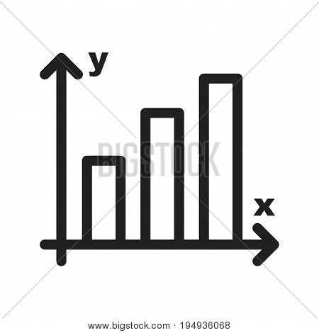 Statistics, graph, growth icon vector image. Can also be used for Math Symbols. Suitable for use on web apps, mobile apps and print media.