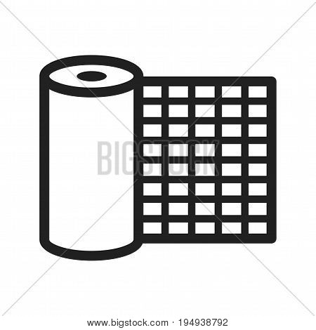 Buckram, design, color icon vector image. Can also be used for Sewing. Suitable for mobile apps, web apps and print media.