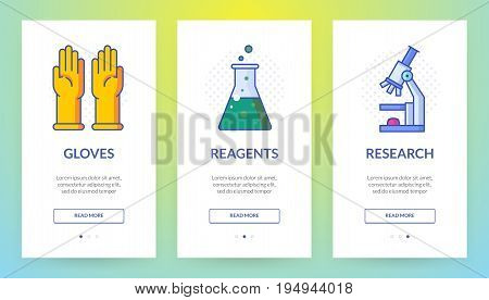 Vertical slider banner about research and safety