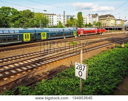 Db Train In Hamburg Hdr