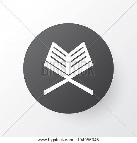 Koran Icon Symbol. Premium Quality Isolated Holy Book Element In Trendy Style.