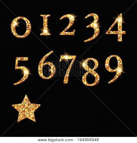 Shinning Silver Numbers And Moon Star Heart Pattern