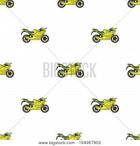 Racing motorcycle.Extreme sport single icon in cartoon style vector symbol stock illustration .