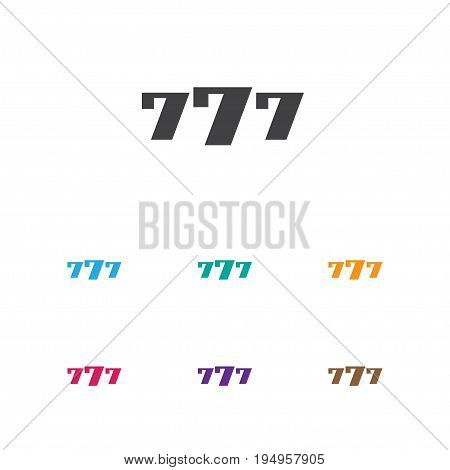 Vector Illustration Of Game Symbol On 7 Number Icon. Premium Quality Isolated Lucky Seven Element In Trendy Flat Style.