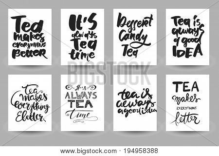 Tea is always a good idea. Tea makes everything better. It's always tea time. . Hand lettering and custom typography for your designs: t-shirts, bags, for posters, invitations, cards