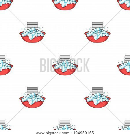 Bowl for washing. Dry cleaning single icon in cartoon style vector symbol stock illustration .