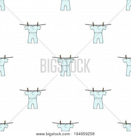 Drying of clean things. Dry cleaning single icon in cartoon style vector symbol stock illustration .
