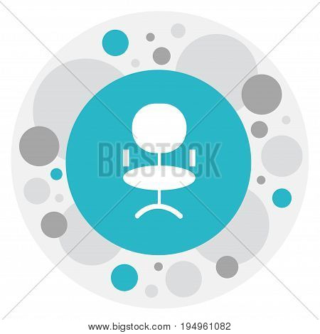 Vector Illustration Of Job Symbol On Office Chair Icon. Premium Quality Isolated Ergonomic Seat Element In Trendy Flat Style.