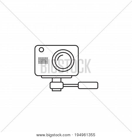 webcam line icon, outline vector logo, linear pictogram isolated on white, pixel perfect illustration