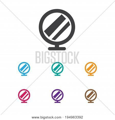 Vector Illustration Of Tonsorial Artist Symbol On Peeper Icon. Premium Quality Isolated Hand Mirror Element In Trendy Flat Style.