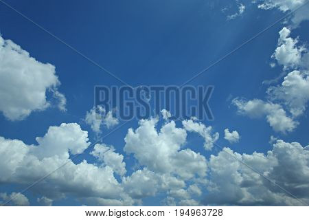 bright and blue sky at pekanbaru city