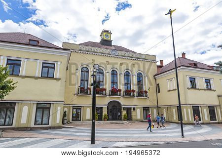 Building Of Michalovce Town Hall, Slovakia