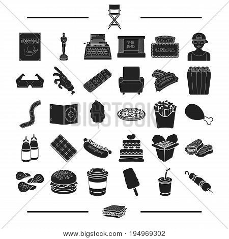 picnic, rarity, dessert and other  icon in black style.treat, rest, barbecue, icons in set collection