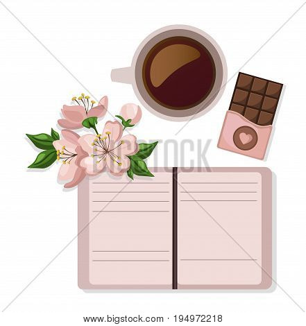 Coffee cup and sweets delicious Vector. Modern icons for coffee shop and coffee house. Colorful template for cooking and restaurant menues