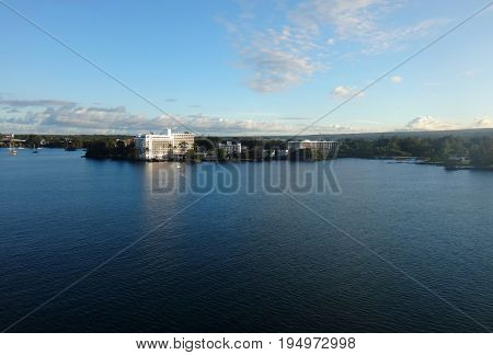 Departure From Hilo, Hawaii From A Cruise Ship.