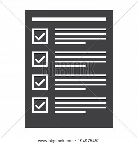 Tasks completed concept with todo list, vector silhouette