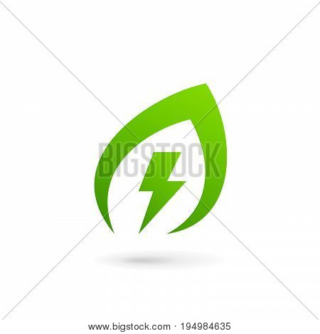 Eco Leaves Power Energy Logo Icon Design Template Elements