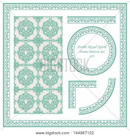 Vintage Border Pattern Of Arabic Royal Spiral Cross