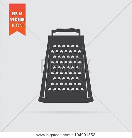 Grater Icon In Flat Style Isolated On Grey Background.