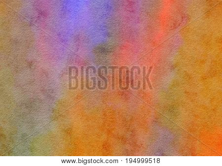 A digitally painted watercolour background paper texture with blended hues of brown and pink.