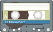 Audio tape illustration poster